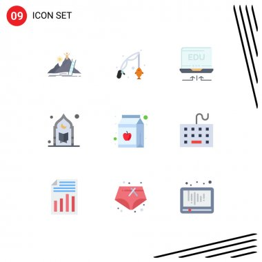 9 Creative Icons Modern Signs and Symbols of moon, mosque, hobby, muslim, education Editable Vector Design Elements icon