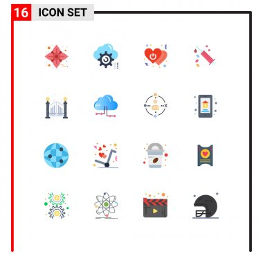 16 Creative Icons Modern Signs and Symbols of treatment, syringe, configure, injection, power Editable Pack of Creative Vector Design Elements icon