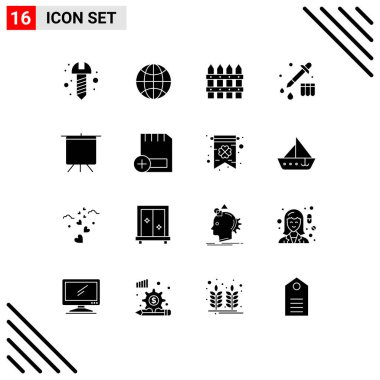 Stock Vector Icon Pack of 16 Line Signs and Symbols for add, deck, farming, board, device Editable Vector Design Elements icon