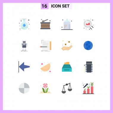 16 Creative Icons Modern Signs and Symbols of artificial, robot, bottle, search, web Editable Pack of Creative Vector Design Elements icon