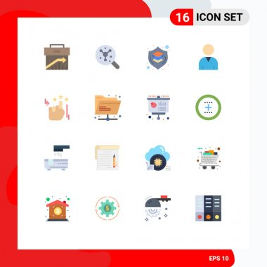 Stock Vector Icon Pack of 16 Line Signs and Symbols for stare, resources, science, human, shield Editable Pack of Creative Vector Design Elements icon