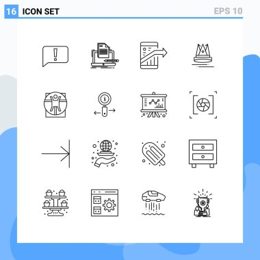 Stock Vector Icon Pack of 16 Line Signs and Symbols for marketing, content, paper, premuim, seo Editable Vector Design Elements icon
