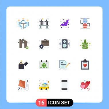 16 Creative Icons Modern Signs and Symbols of sandclock, control, river, concentration, halloween Editable Pack of Creative Vector Design Elements icon