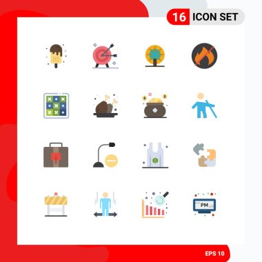 Stock Vector Icon Pack of 16 Line Signs and Symbols for toe, no, objective, fire, ship Editable Pack of Creative Vector Design Elements icon