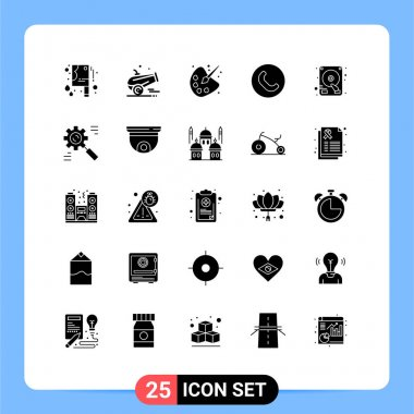 Stock Vector Icon Pack of 25 Line Signs and Symbols for business, drive, drawing, disk, handset Editable Vector Design Elements icon