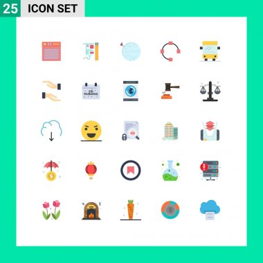 Stock Vector Icon Pack of 25 Line Signs and Symbols for bus, path, treatment, open, squarico Editable Vector Design Elements icon