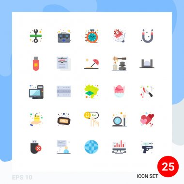 Stock Vector Icon Pack of 25 Line Signs and Symbols for education, love, fast, gift, birthday Editable Vector Design Elements icon