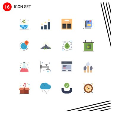 16 Creative Icons Modern Signs and Symbols of point, global, e book, business, study Editable Pack of Creative Vector Design Elements icon