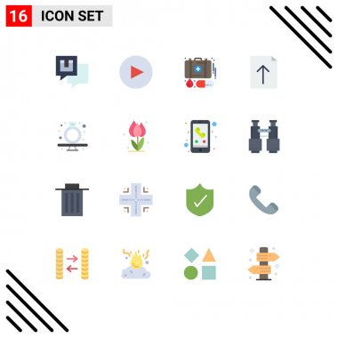 16 Creative Icons Modern Signs and Symbols of ring, diamond, emergency, present, import Editable Pack of Creative Vector Design Elements icon