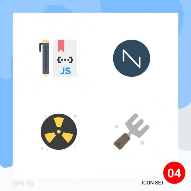 Editable Vector Line Pack of 4 Simple Flat Icons of cloud, fighter, development, sound, fireman Editable Vector Design Elements icon