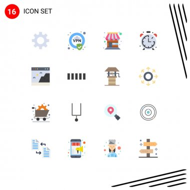 16 Creative Icons Modern Signs and Symbols of photo, interface, store, browser, education Editable Pack of Creative Vector Design Elements icon