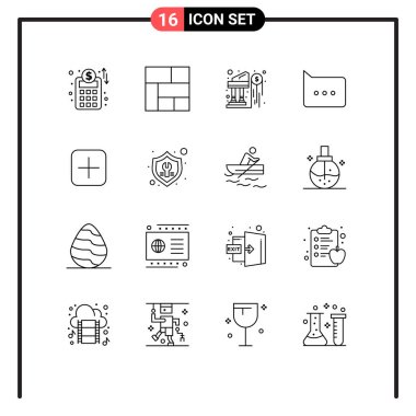 Stock Vector Icon Pack of 16 Line Signs and Symbols for fix, sets, investment, plus, comment Editable Vector Design Elements icon