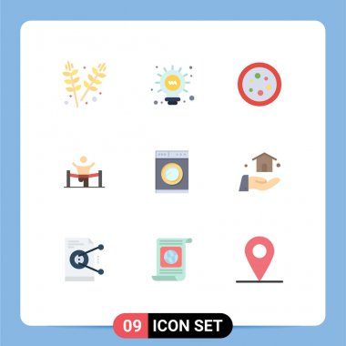 Stock Vector Icon Pack of 9 Line Signs and Symbols for man, leader, chemistry, finish, winner Editable Vector Design Elements icon