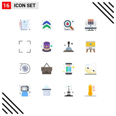 Stock Vector Icon Pack of 16 Line Signs and Symbols for screen, full, scan, server, digital Editable Pack of Creative Vector Design Elements icon