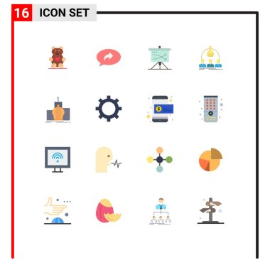 16 Creative Icons Modern Signs and Symbols of scientist, man, strategic, lab, graph Editable Pack of Creative Vector Design Elements icon