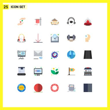 Stock Vector Icon Pack of 25 Line Signs and Symbols for hat, education, transfusion, cap, environment Editable Vector Design Elements icon