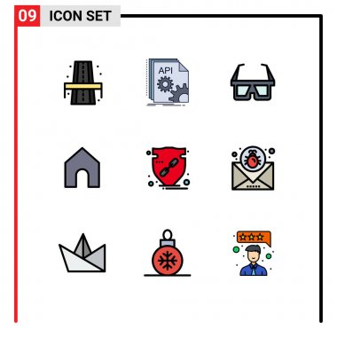 Stock Vector Icon Pack of 9 Line Signs and Symbols for verify, interface, software, instagram, stereo Editable Vector Design Elements icon