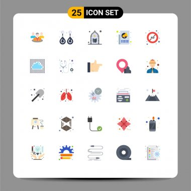Stock Vector Icon Pack of 25 Line Signs and Symbols for paper, marketing, valuable, ads, prayer Editable Vector Design Elements icon