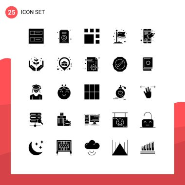25 Creative Icons Modern Signs and Symbols of farming, seo tag, image, mobile, milestone Editable Vector Design Elements icon