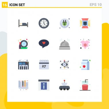 16 Creative Icons Modern Signs and Symbols of softbox, lighting, plug, light, wifi Editable Pack of Creative Vector Design Elements icon