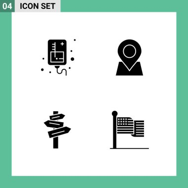 Stock Vector Icon Pack of Line Signs and Symbols for drip, hotel, medical, marker, room Editable Vector Design Elements icon