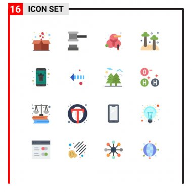 16 Creative Icons Modern Signs and Symbols of contact, nature, creative, mushroom, food Editable Pack of Creative Vector Design Elements icon