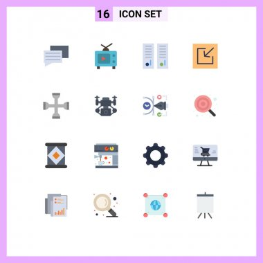 16 Creative Icons Modern Signs and Symbols of setting, cross, lockers, save, download Editable Pack of Creative Vector Design Elements icon