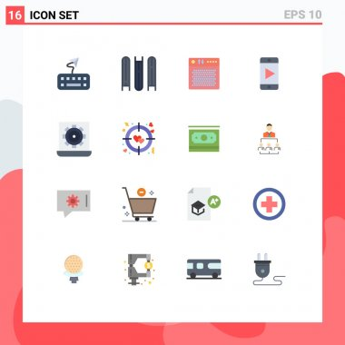 16 Creative Icons Modern Signs and Symbols of preference, configure, device, computer, play Editable Pack of Creative Vector Design Elements icon