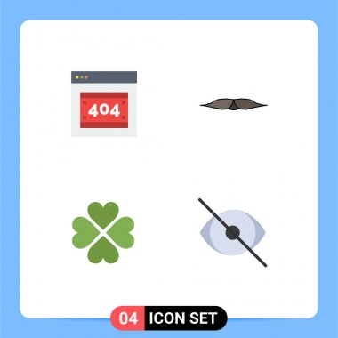 4 User Interface Flat Icon Pack of modern Signs and Symbols of error, heart, server, movember, like Editable Vector Design Elements icon