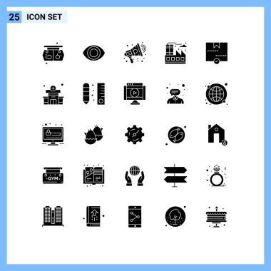 Stock Vector Icon Pack of 25 Line Signs and Symbols for parcel, delivery, marketing, delivered, factory Editable Vector Design Elements icon