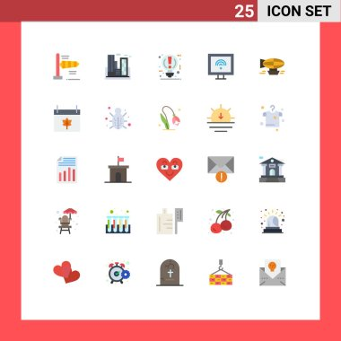 Stock Vector Icon Pack of 25 Line Signs and Symbols for air, smart, bulb, internet, pause Editable Vector Design Elements icon
