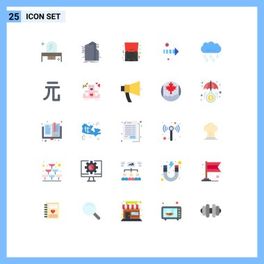 Stock Vector Icon Pack of 25 Line Signs and Symbols for right, arrow, connected, offer, laptop Editable Vector Design Elements icon