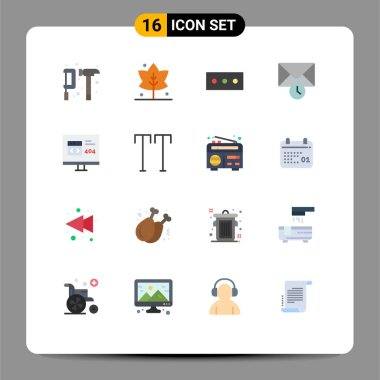 16 Creative Icons Modern Signs and Symbols of error, develop, password, browser, time Editable Pack of Creative Vector Design Elements icon