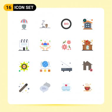 16 Creative Icons Modern Signs and Symbols of money, discount, lamp, power, efficiency Editable Pack of Creative Vector Design Elements icon