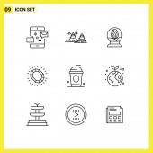 Fotografie 9 Skizzenkonzept für Websites Mobile und Apps Schleife, Schmuck, Baum, Mode, Ei Editierbare Vektordesign-Elemente