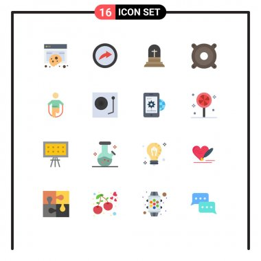 16 Creative Icons Modern Signs and Symbols of jumping, activity, celebration, speaker, devices Editable Pack of Creative Vector Design Elements