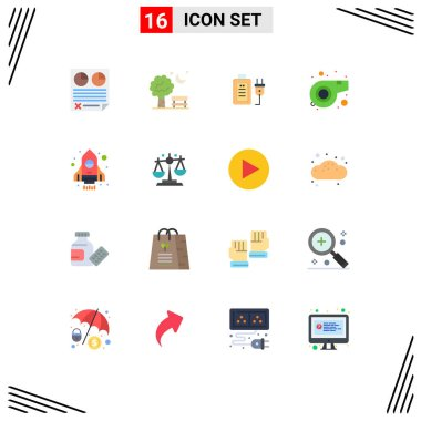 16 Creative Icons Modern Signs and Symbols of rocket, sport, spring, referee, plug Editable Pack of Creative Vector Design Elements icon