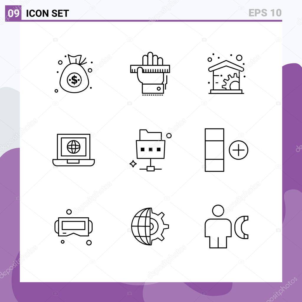 9 Creative Icons Modern Signs And Symbols Of File Internet Ruler Globe Laptop Editable Vector Design Elements Premium Vector In Adobe Illustrator Ai Ai Format Encapsulated Postscript Eps Eps Format
