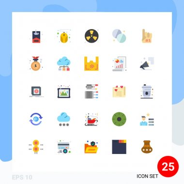 Stock Vector Icon Pack of 25 Line Signs and Symbols for foam, fanatic, fire, medicine, health Editable Vector Design Elements icon