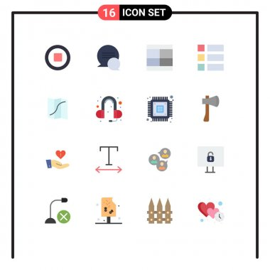 Stock Vector Icon Pack of 16 Line Signs and Symbols for navigation, map, draw, layout, frame Editable Pack of Creative Vector Design Elements icon