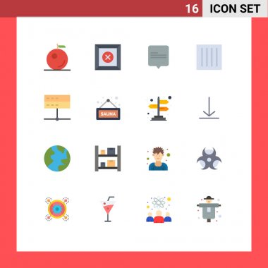 16 Creative Icons Modern Signs and Symbols of signal, devices, care, data, laundry Editable Pack of Creative Vector Design Elements icon