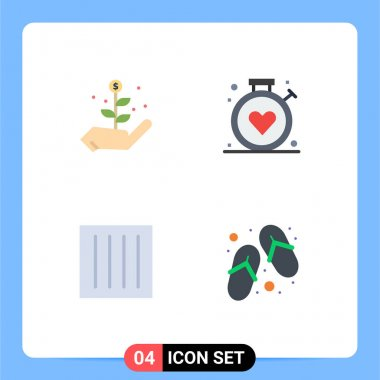4 User Interface Flat Icon Pack of modern Signs and Symbols of growth, drip dry, compass, medical, laundry Editable Vector Design Elements icon