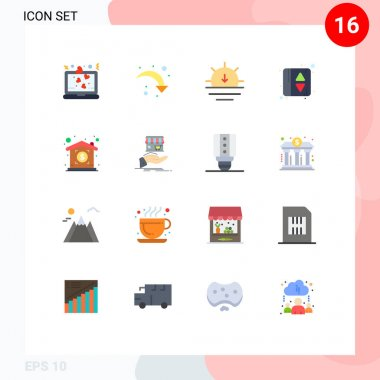 Universal Icon Symbols Group of 16 Modern Flat Colors of property, investment, nature, elevator indication, elevator Editable Pack of Creative Vector Design Elements icon