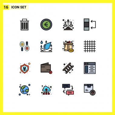 Stock Vector Icon Pack of 16 Line Signs and Symbols for computing, search, justice, research, swap Editable Creative Vector Design Elements icon
