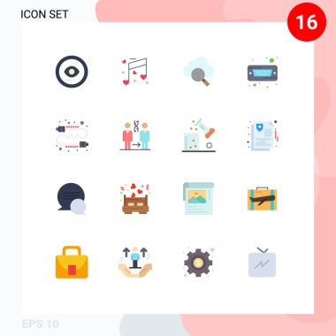 16 Creative Icons Modern Signs and Symbols of communication, hard, wedding, hard disk, drive Editable Pack of Creative Vector Design Elements icon