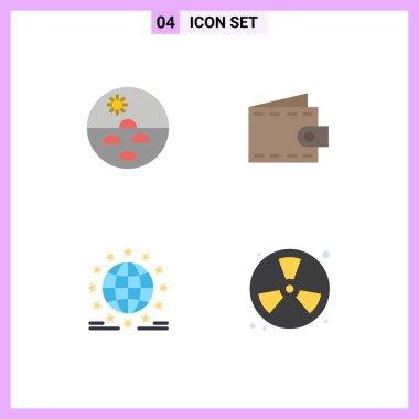 Flat Icon Pack of 4 Universal Symbols of dermatology, gdpr, skin care, money, internet Editable Vector Design Elements icon