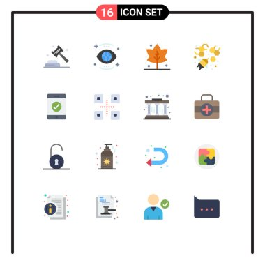 16 Creative Icons Modern Signs and Symbols of mobile, agriculture, view, honey, giving Editable Pack of Creative Vector Design Elements icon