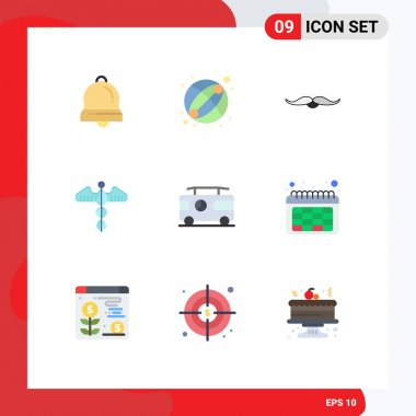 Stock Vector Icon Pack of 9 Line Signs and Symbols for combo, health, hipster, heart, medical Editable Vector Design Elements icon