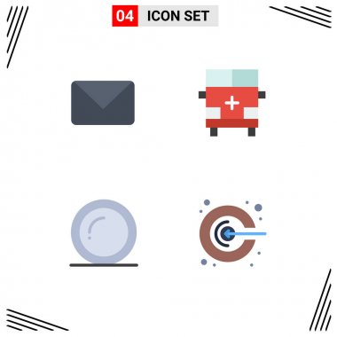 Pack of 4 Modern Flat Icons Signs and Symbols for Web Print Media such as twitter, plate, chat, outline, thanks Editable Vector Design Elements icon
