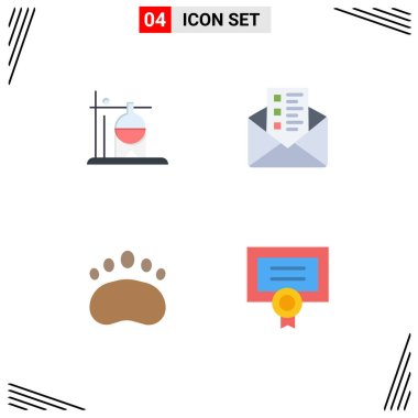 Pack of 4 creative Flat Icons of healthcare, logo, transfusion, chat, zoology Editable Vector Design Elements icon